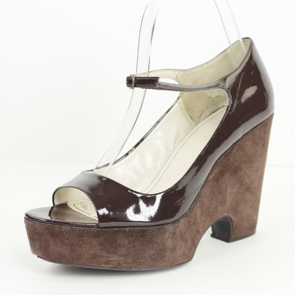 Zara Shoes - Zara Brown Open Toe Mary Jane Platform Wedges 7